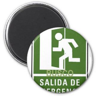 SALIDA DE EMERGENCIA FRIDGE MAGNET