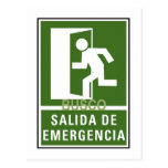 SALIDA DE EMERGENCIA POST CARD