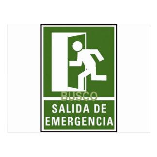 SALIDA DE EMERGENCIA POSTCARDS