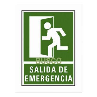 SALIDA DE EMERGENCIA POSTCARD