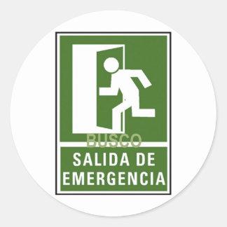 SALIDA DE EMERGENCIA STICKERS