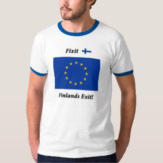 ¡Salida de Fixit - de Finlands! Rayas azules Remera