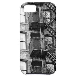 Salida de incendios blanco y negro iPhone 5 Case-Mate cobertura