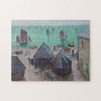 Salida de la bella arte de Etretat Monet de los Puzzle