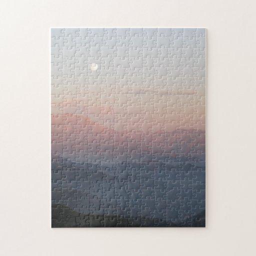 Salida de la luna de la montaña de San Bernardino Puzzles