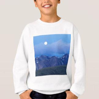 Salida de la luna del cielo sobre gama de Alaska Sudadera