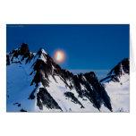 Salida de la luna en el Juneau Icefield - esconda Tarjeta De Felicitación