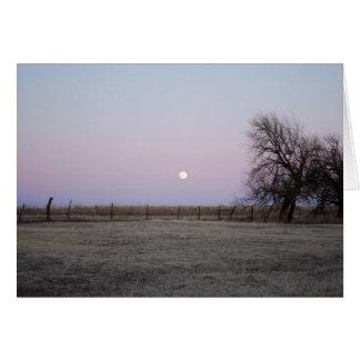 Salida de la luna en Kansas Tarjetón