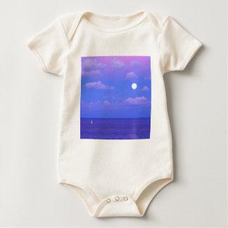 Salida de la luna encantada mar Cancun Body Para Bebé