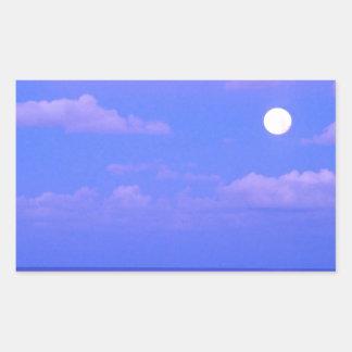 Salida de la luna encantada mar Cancun Pegatina Rectangular
