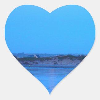 Salida de la luna pegatina en forma de corazón