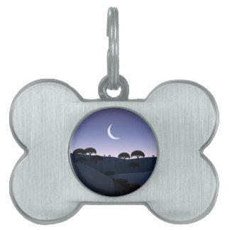 Salida de la luna placa mascota