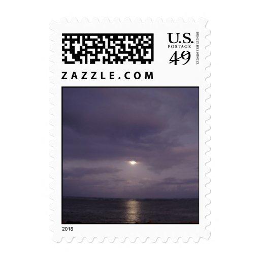 Salida de la luna Punaluu Hawaii Sellos