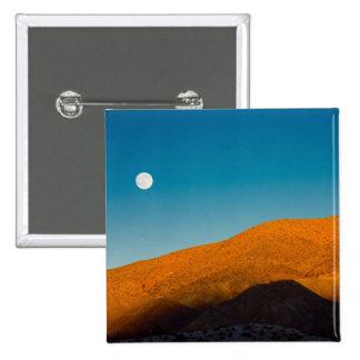 Salida de la luna sobre desierto de Mojave Pins