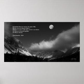 Salida de la luna sobre Franconia Principal poste
