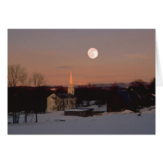 Salida de la luna sobre Peacham Tarjeta De Felicitación