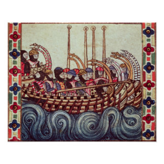 Salida de un barco para las cruzadas, impresiones