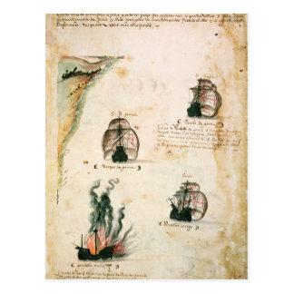 Salida de Vasco da Gama Postales