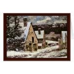 Salida del pueblo en invierno de Courbet Gustavo Tarjeta De Felicitación