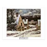 Salida del pueblo en invierno de Courbet Gustavo Postal