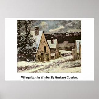 Salida del pueblo en invierno de Gustave Courbet Impresiones