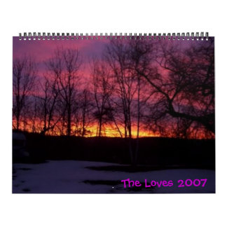 Salida del sol 05, los amores 2007 de Bayfield Calendarios De Pared