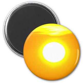 Salida del sol 4 de Lincolnshire Imán Redondo 5 Cm