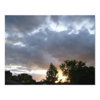 """Salida del sol a lo largo del valle del río Ohio Invitación 4.25"""" X 5.5"""""""