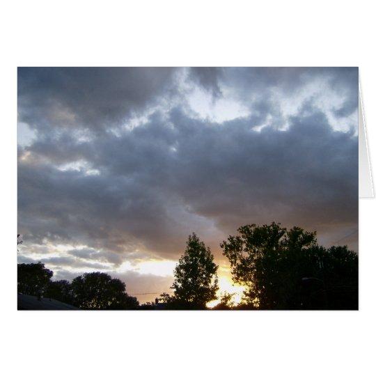 Salida del sol a lo largo del valle del río Ohio Tarjeta De Felicitación