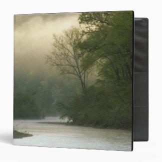 Salida del sol a través de la niebla vista de pen¢
