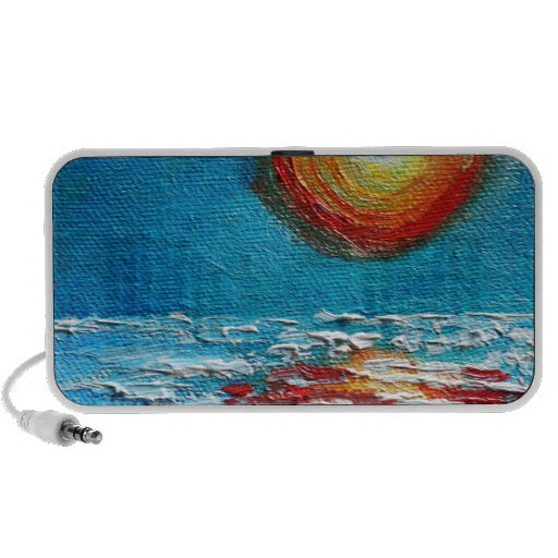 Salida del sol abstracta de Impasto Notebook Altavoz