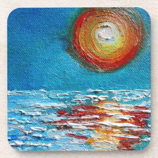 Salida del sol abstracta de Impasto Posavasos