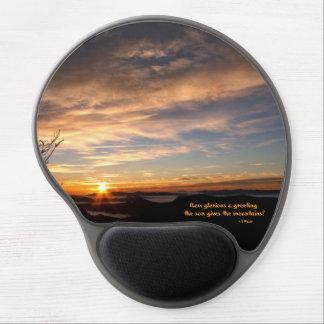 Salida del sol ahumada de Mtn/cómo es glorioso… J Alfombrillas Con Gel
