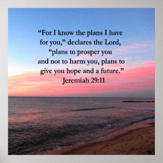 SALIDA DEL SOL ALEGRE DEL 29:11 DE JEREMIAH PÓSTER