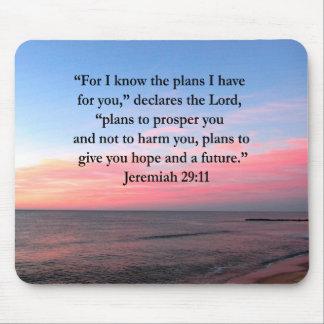 SALIDA DEL SOL ALEGRE DEL 29:11 DE JEREMIAH TAPETES DE RATON