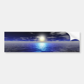 Salida del sol azul pegatina para auto