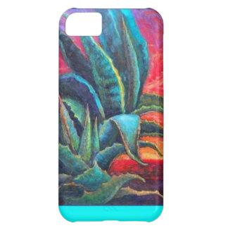 Salida del sol azul de los cactus del agavo por Sh Funda Para iPhone 5C