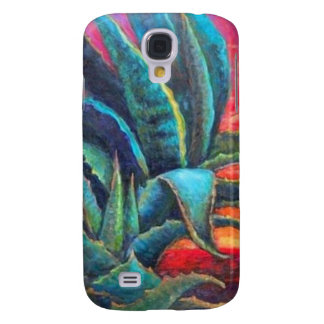 Salida del sol azul de los cactus del agavo por Sh Funda Para Samsung Galaxy S4