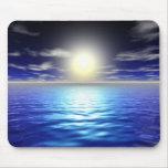 Salida del sol azul tapetes de ratón