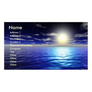 Salida del sol azul tarjetas de negocios