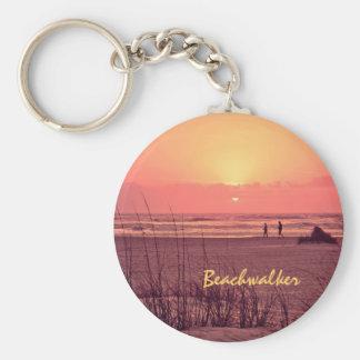 Salida del sol Beachwalker Llavero Personalizado