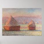 Salida del sol blanca de Frost de Claude Monet (18 Poster