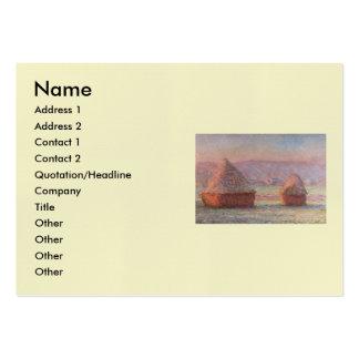 Salida del sol blanca de Frost de Claude Monet Tarjetas De Visita Grandes