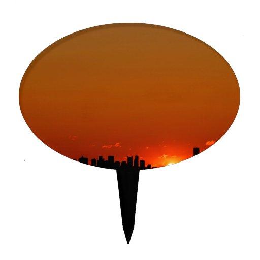 Salida del sol Boston Figura Para Tarta