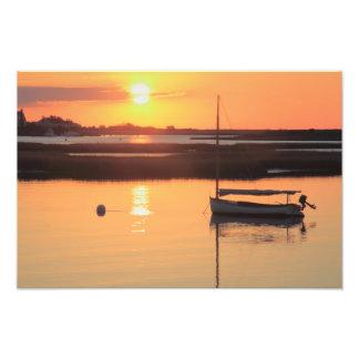 Salida del sol Catboat Fotografias