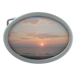 Salida del sol - ciudad del océano, Maryland Hebilla Cinturon Oval