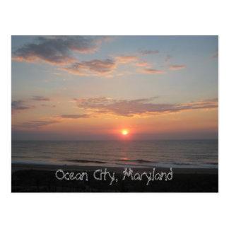 """""""Salida del sol - ciudad del océano, Maryland """" Postales"""