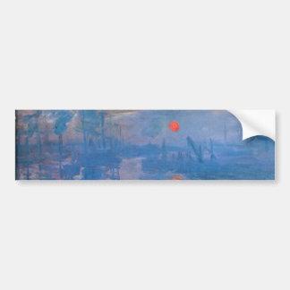Salida del sol - Claude Monet Etiqueta De Parachoque