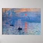 Salida del sol - Claude Monet Póster