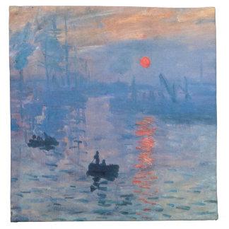 Salida del sol - Claude Monet Servilletas